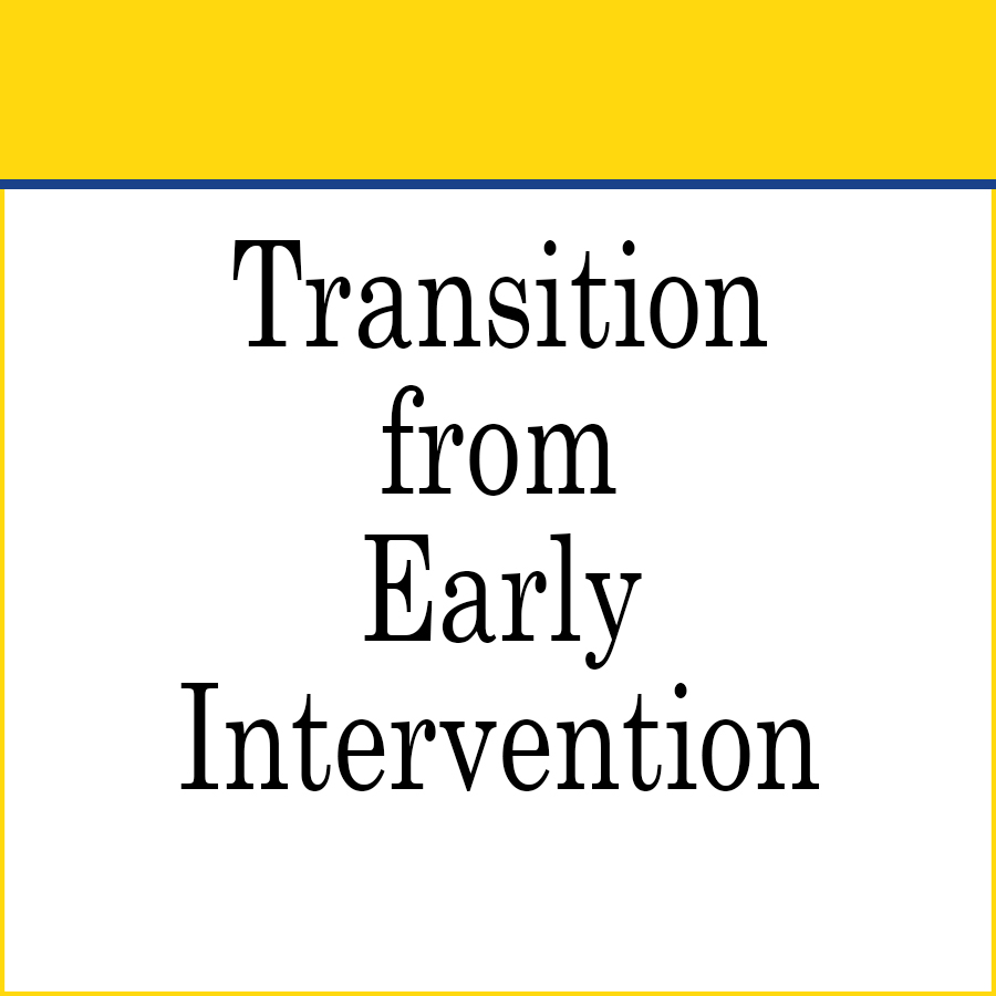 Transition from Early Intervention Forms and Documents link image