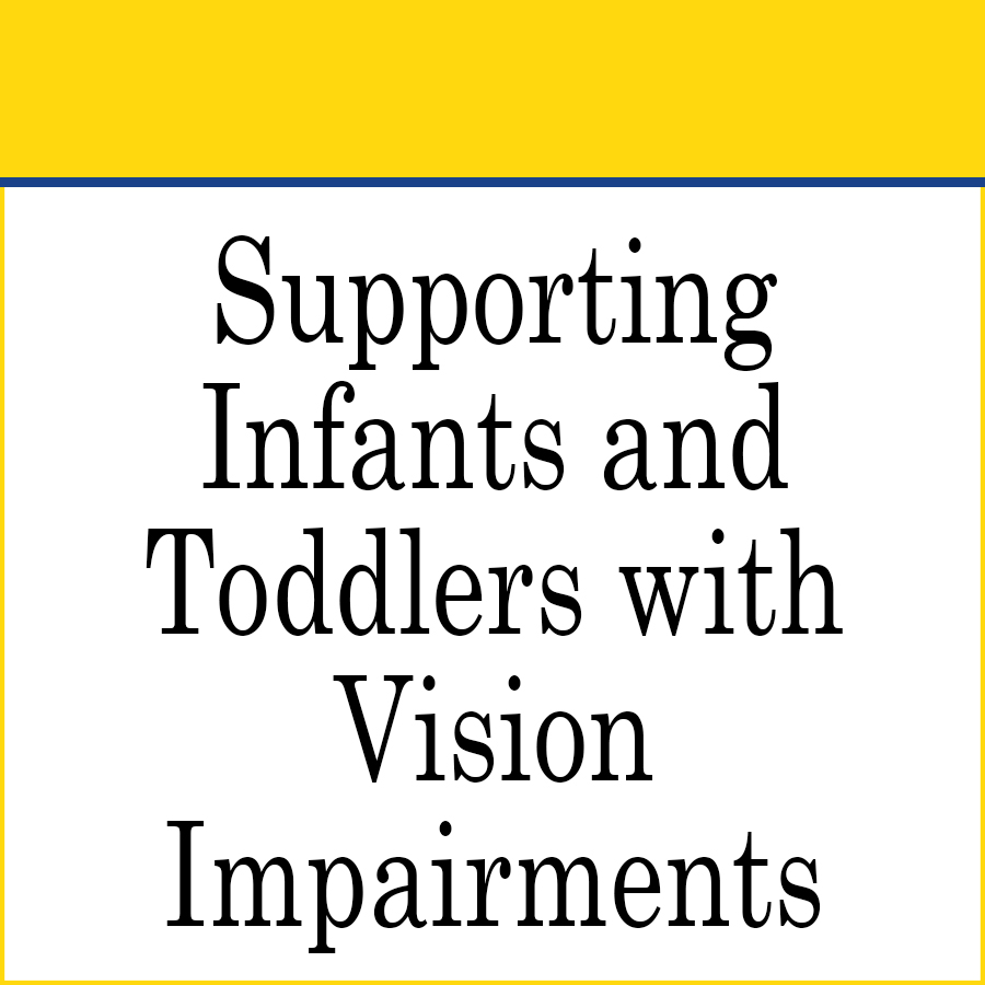 Early Intervention supporting toddlers with vision impairments link image