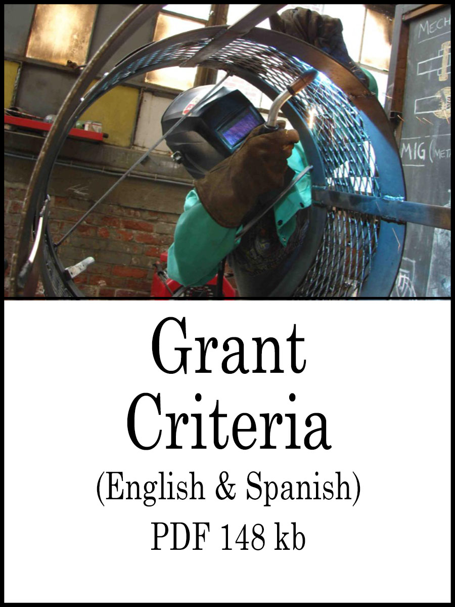AAA mini grant criteria, English and Spanish 148 kb PDF link image