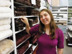 person washing their clothes image