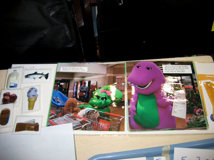 link to larger barney shopping image